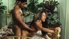 Brazilla plays with her snatch, then his dick as they suck and fuck hard