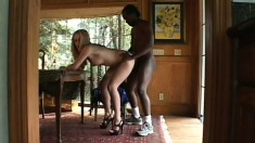 Sweet blonde teen Brittney makes the most of her time with a black cock