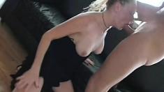 Audrey Hollander deep throats a big rod and gets her ass drilled rough