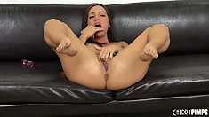 Everybody hold their breaths while Abigail Mac pets her delectable cootch