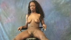 Elegant black beauty Dawn shows off every curve of her wonderful body