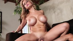 Gorgeous MILF with gigantic tits gets pounded by her boy toy