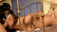 Kinky lovers exploring their hardcore sexual fantasy all over the bed