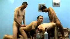 The party turned sexual as these four gays start spanking some ass
