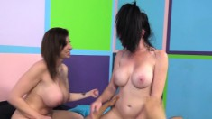 Voluptuous Sluts Sara Jay And Bella Maree Take Turns On A Hard Shaft