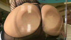 Bodacious Blonde In Black Lingerie Fulfills Her Hardcore Anal Fantasy