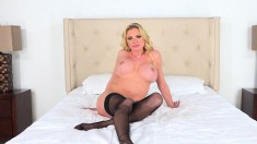 Busty pornstar Briana Banks does it all on her live cam show