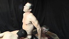 A very hot and hardcore gay threesome with tight ass banging and boner blowing