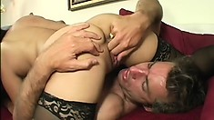 Asian MILF Lucky Starr finds a lucky guy to trade head and have hot sex with