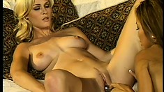 Sexy lesbian bitches join Teanna Kai for a hardcore threesome