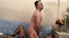Nasty new gay boys ass fuck each other back and forth all day