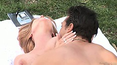 MILF babe Darla Crane getting naked and opening her pussy to be licked by a horny guy