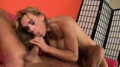 British beauty Tanya Tate begs for more in a hardcore banging