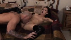 Jenna Presley gets her brains fucked out by a monstrous boner