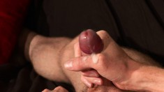 Two shaved men with big cocks and sexy ink make passionate love