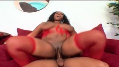 Skyy Black finds the intense pleasure she seeks in a massive black rod