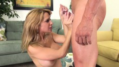 Stacked Alyssa Lynn loves to work her mouth and her snatch on a dick