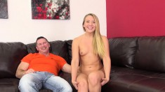 Sexy AJ goes nutso on his joint and lets him pound her wet hole