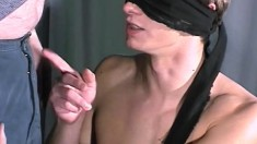 Pretty boy gets his ass fingered and his dick stroked by a masked man