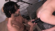 Handsome stud gives his gay partner the deep anal banging he desires