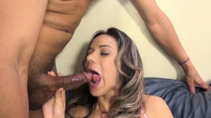 Busty Nadia Styles Bounces On A Big Black Pole And Releases Her Juices