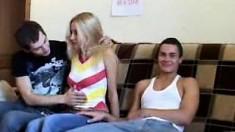 Hard gangbang for teen Aurora