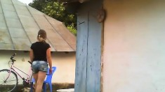 Outdoor Masturbation 18 Years Blonde Ulyana