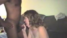 Mature amateur wife interracial cuckold handjob