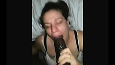 Mature Brunette Takes A Ride On A Big Black Cock