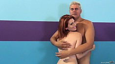 Damn stacked gingerhead Lylith Lust gets fucked and jizzed on