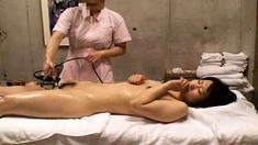 Sexy Milf In Nurse Uniform Stretching Her Hairy Pussy