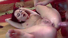 She gets her tight holes properly pleased and her body quivers with pleasure