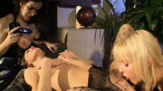Beautiful lesbian chicks get freaky on each other's sweet slits