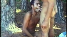 Andre and Fabio blow each other's pricks and fuck hard in the woods