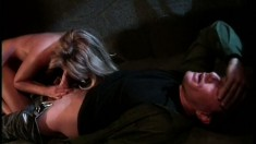 Truly stunning blonde Toni goes for a rough ride on the back seat
