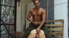 Muscular men with meaty dicks enjoy some brutal anal pounding